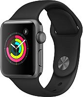 Умные часы Apple Watch Series 3 38mm / MTF02 (алюминий серый космос/черный) -
