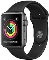 Умные часы Apple Watch Series 3 42mm / MTF32 (алюминий серый космос/черный) -
