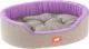 Лежанка для животных Ferplast Dandy 110 / 82946095 (серый/сиреневый) -
