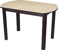 Обеденный стол Домотека Румба ПО 70x110-147 (бежевый/венге/04) -