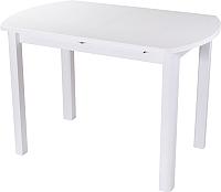 Обеденный стол Домотека Румба ПО 80x120-157 (белый/белый/04) -