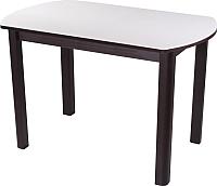 Обеденный стол Домотека Румба ПО 70x110-147 (белый/венге/04) -