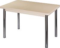 Обеденный стол Домотека Румба ПР 70x110-147 (бежевый/молочный дуб/02) -