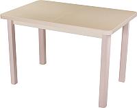 Обеденный стол Домотека Румба ПР 70x110-147 (бежевый/молочный дуб/04) -