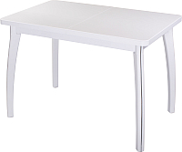 Обеденный стол Домотека Румба ПР 70x110-147 (белый/белый/07) -