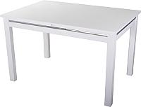 Обеденный стол Домотека Вальс 80x120-157 (белый/белый) -