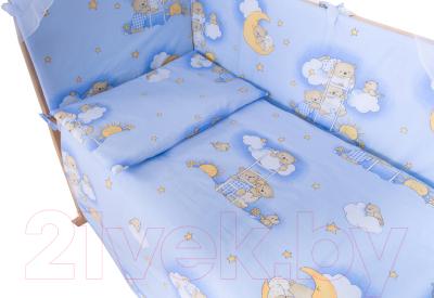 Простыня детская Баю-Бай Нежность / ПР14-Н4 (голубой)