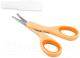 Ножницы для новорожденных Chicco Из нержавеющей стали с закругленными концами (оранжевый) -