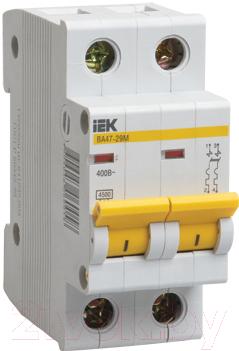 Выключатель автоматический IEK ВА 47-29M 8A 2п 4.5кА D / MVA21-2-008-D