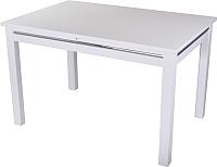 Обеденный стол Домотека Твист 80x120-157 (белый) -
