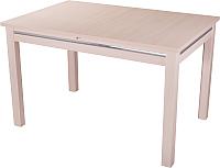Обеденный стол Домотека Твист 80x120-157 (молочный дуб) -