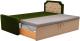 Двухъярусная кровать Mebelico Севилья 30 / 59587 (микровельвет, зеленый/бежевый) -