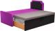 Двухъярусная кровать Mebelico Севилья 30 / 59589 (микровельвет, фиолетовый/черный) -