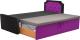 Двухъярусная кровать Mebelico Севилья 30 / 59590 (микровельвет, черный/фиолетовый) -
