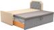 Двухъярусная кровать Mebelico Севилья 30 / 59593 (рогожка, бежевый/серый) -