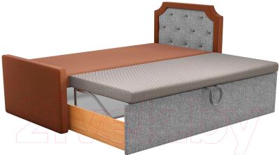 Двухъярусная кровать Mebelico Севилья 30 / 59594 (рогожка, коричневый/серый)