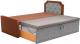 Двухъярусная кровать Mebelico Севилья 30 / 59594 (рогожка, коричневый/серый) -