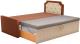 Двухъярусная кровать Mebelico Севилья 30 / 59595 (рогожка, коричневый/бежевый) -