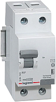 Дифференциальный автомат Legrand RX3 1P+N C 25А 30мА 6кА 2М AC / 419401 -