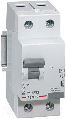 Дифференциальный автомат Legrand RX3 1P+N C 25А 30мА 6кА 2М AC / 419401