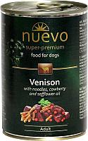 Корм для собак Nuevo Dog Adult Venison & Noodles & Cowberry / 95001 (400г) -