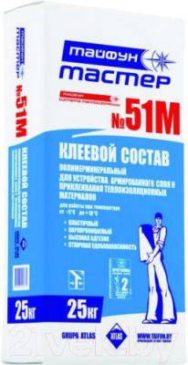 Клей для теплоизоляционных плит Тайфун Мастер №51М (25кг)