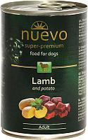 Корм для собак Nuevo Dog Adult Lamb & Potato / 95010 (400г) -