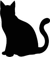 Магнит грифельный Grifeldecor Кошка / BZ187-6B198 (38x29) -