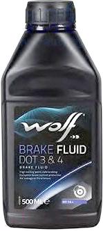 Тормозная жидкость WOLF Brake Fluid DOT 3/4 / 5039 тормозная жидкость bosch dot 4 brake fluid 1 л