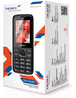 Мобильный телефон Texet TM-D430 (черный)