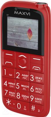 Мобильный телефон Maxvi B7 (красный)