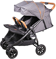 Детская прогулочная коляска Coletto Enzo Twin (темно-серый) -