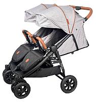 Детская прогулочная коляска Coletto Enzo Twin (серый) -