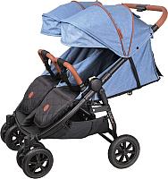 Детская прогулочная коляска Coletto Enzo Twin (джинс) -