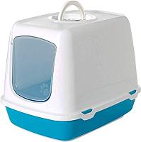 Туалет-домик Savic Oscar 02650WTB (белый/бирюзовый) -