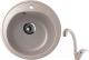 Мойка кухонная Berge BG-5200 + смеситель GR-4003 (песочный/классик) -