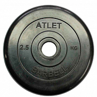 Диск для штанги MB Barbell Atlet d26мм 2.5кг (черный) -