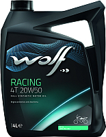 Моторное масло WOLF Racing 4T 20W50 / 29447/4 (4л) -