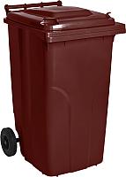 Контейнер для мусора Алеана 122068 (240л, темно-коричневый) -
