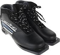 Ботинки для беговых лыж TREK Skiing IK 1 NN75 (черный/серый, р-р 34) -