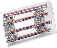 Распределительный блок на DIN-рейку КС РБ-200А (шинный) -