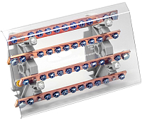 Распределительный блок на DIN-рейку КС РБ-250А (шинный) -