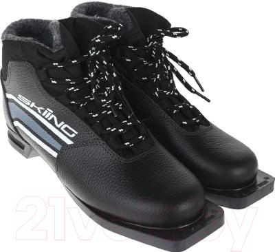 Ботинки для беговых лыж TREK Skiing IK 1 NN75 (черный/серый, р-р 45)