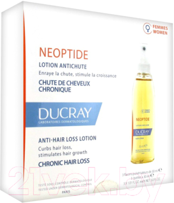 Лосьон для волос Ducray Неоптид от выпадения волос для женщин (3x30мл)