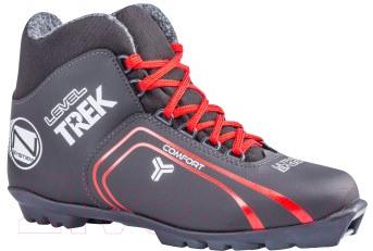 Ботинки для беговых лыж TREK Level 2 SNS (черный/красный, р-р 40)