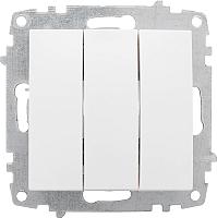 Выключатель EKF Милан 3кл 10А / EMV10-024-10 (белый) -
