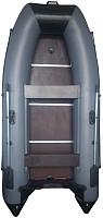 Надувная лодка Vivax Т300Р с жестким полом (с килем, серый/черный) -