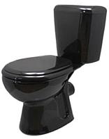Унитаз напольный Керамин Гранд Алкапласт (черный, с полипропиленовым сиденьем) -