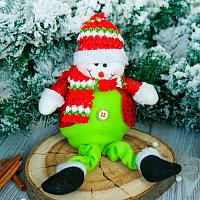 Подвеска новогодняя Зимнее волшебство Снеговик в пиджаке / 2357093 -