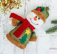 Подвеска новогодняя Зимнее волшебство Снеговик Две ёлочки / 3563305 -